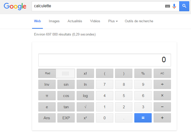 Google calculette