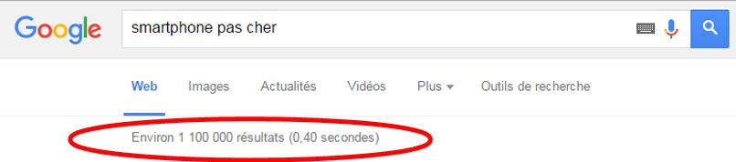 Google nombre resultats